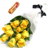 Yellow Rose w/chocolate