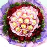 Roses IBouquet With Ferrero Rocher