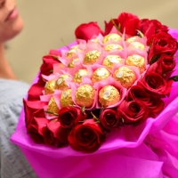Red Rose & Ferrero Rocher