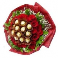 30 Roses With Ferrero Rocher