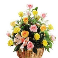 Mixed Rose Basket 2