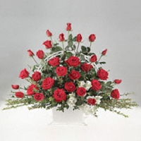 Red Rose Basket 2