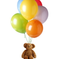 Birthday Joy Basket & Balloons