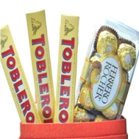 toblerone w/ ferrero chocolate