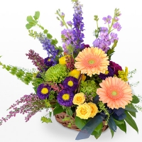 Bold Garden Mix Flower Basket