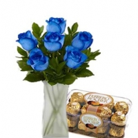 Blue Rose & Ferrero Rocher